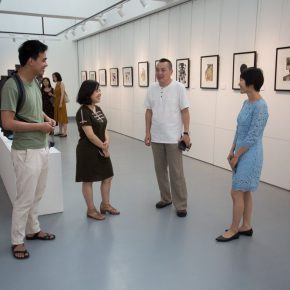 06 From the left to the right artist Ding Ning curator Zhu Li Associate Prof. Li Fan from the Department of Printmaking CAFA artist Wang Jing 290x290 - The First Exhibition of CAI Young Artist Laboratory: Self – Awareness and Artistic Expression
