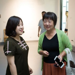07 Curator Zhu Li and Prof. Chen Shuxia Director of the Department of Art Education Institute of Arts Administration and Education CAFA 290x290 - The First Exhibition of CAI Young Artist Laboratory: Self – Awareness and Artistic Expression