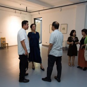 09 From the left to the right Wang Zhong Dean of the School of Urban Design CAFA Zhang Yanzi Editor in chief of CAFA ART INFO Liu Qinghe Deputy Dean of the School of Chinese Painting CAFA 290x290 - The First Exhibition of CAI Young Artist Laboratory: Self – Awareness and Artistic Expression