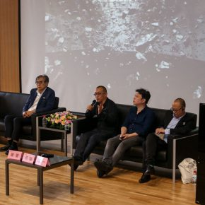 """09 View of the lecture of the exhibition """"The Boundary and Future of Art"""""""