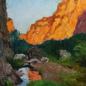 13 Yi Ying, Setting Sun of the Canyon, 50 x 60 cm, 2013