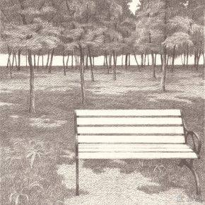 14 Hao Long, A drawing of the Lightness of Being No.1, 26 x 26 cm, pencil on paper, 2016
