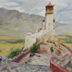 17 Liu Bo, Landscape of Yumbulakang, Tibet