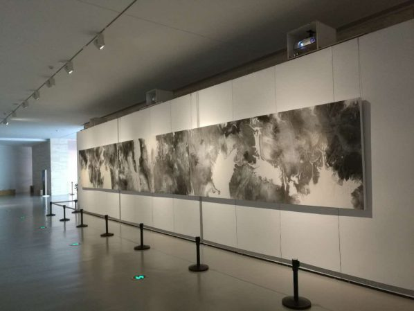 Exhibition View of Interactive Ink based on Computational Fluid Dynamics 02