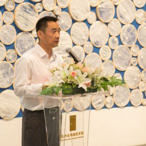 03 Zhu Qiang Executive Director of Jinji Lake Art Museum delivered a speech 290x290 - Path of Reincarnation: Contemporary Interpretation of Oriental Silk Culture