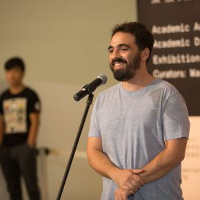 06 Artist Alexander Vhils delivered a speech