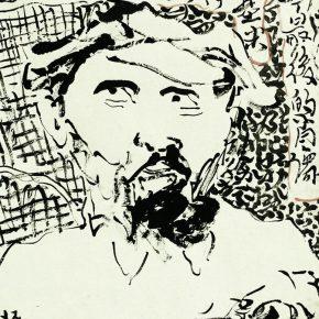 09 Zhu Zhengeng, Lenin's Last Portrait, ink on paper, 34 x 46 cm, 2006