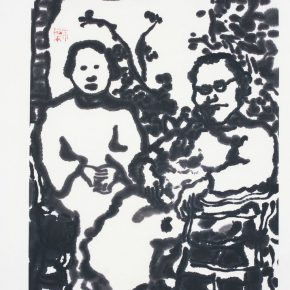 10 Zhu Zhengeng, An Old Photo, ink on paper, 46 x 34 cm, 2002