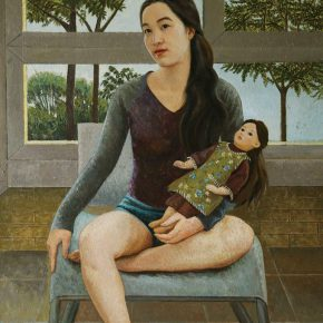 """14 Lin Xiaochu Daydream oil on canvas 100 x 140 cm 2016 290x290 - 2017 Lecong Arts & Culture Season """"New Face of the Academy"""" – CAFA Young Artists Academic Invitation Exhibition and Collection Exhibition"""