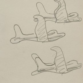 14 Zhu Zhengeng A Sketch· An Aircraft That is Like a Swallow pencil on paper 18.5 × 14 cm 2007 290x290 - Zhu Zhengeng
