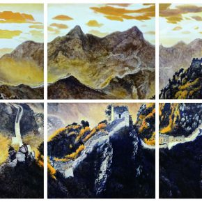 """15 Tang Yin Jinshanling Ming Great Wall 320 x 540 cm 2017 290x290 - 2017 Lecong Arts & Culture Season """"New Face of the Academy"""" – CAFA Young Artists Academic Invitation Exhibition and Collection Exhibition"""
