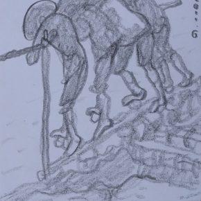 15 Zhu Zhengeng A Sketch · The Taiwan Water Wheel pencil on paper 18.5 × 14 cm 2011 290x290 - Zhu Zhengeng