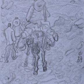 16 Zhu Zhengeng A Sketch · Mountain Road pencil on paper 18.5 × 14 cm 2011 290x290 - Zhu Zhengeng