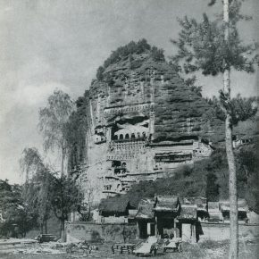 """24 Exterior of the Maiji Mountain Grottoes and Ruiying Temple in 1953 290x290 - """"The Dimension of Tradition – Copying and the Collection for the National Traditional Painting by CAFA in the 1950s and 1960s"""""""