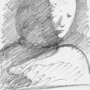 24 Zhu Zhengeng A Sketch pencil on paper 18.5 × 14 cm 2007 290x290 - Zhu Zhengeng