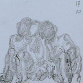 28 Zhu Zhengeng A Sketch pencil on paper 18.5 × 14 cm 2007  290x290 - Zhu Zhengeng