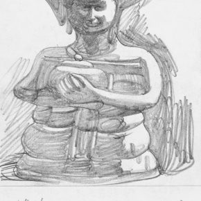 29 Zhu Zhengeng, A Sketch, pencil on paper, 18.5 × 14 cm, 2006