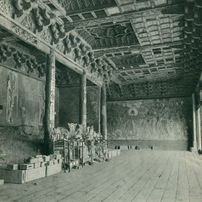 """32 Interior of Sanqing Temple at the Yongle Palace in Yuncheng Shanxi province 1958 290x290 - """"The Dimension of Tradition – Copying and the Collection for the National Traditional Painting by CAFA in the 1950s and 1960s"""""""