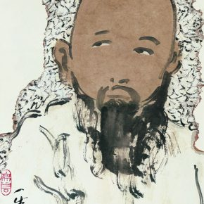 76 Zhu Zhengeng, Fragment Series – Portrait No.2, 34 x 46 cm, ink and color on paper, 2008