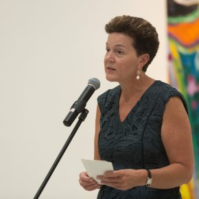 "01 Ms. Carma Elliot Country Director British Council China addressed the opening ceremony 290x290 - Celebration of Life and the Experience of the Sublime: Gillian Ayres' Abstract Painting ""Sailing off the Edge"""