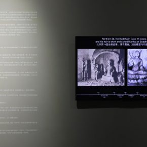 """02 Display of the memorabilia of Tianlongshan Grottoes 290x290 - A New Approach to the Study on Art History in the Digital Age: OCAT Institute Exhibited the """"Original Appearance"""" of Tianlongshan Grottoes"""