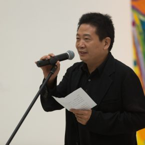 "02 Mr. Zhang Zikang Director of CAFA Art Museum addressed the opening ceremony 290x290 - Celebration of Life and the Experience of the Sublime: Gillian Ayres' Abstract Painting ""Sailing off the Edge"""