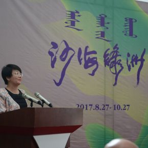 02 Su Cuifang, a member of Standing Committee of Ordos and Minister of Publicity Department of Ordos, delivered a speech