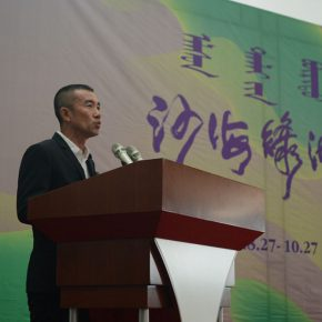 03 Prof. Zhang Lujiang, Deputy Dean of the School of Plastic Arts, Central Academy of Fine Arts delivered a speech on behalf of the participating
