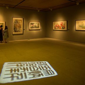 """04 Exhibition view of the """"Harmonized Beauty – Exhibition Commemorating the 100th Anniversary of Zong Qixiang's Birth"""""""