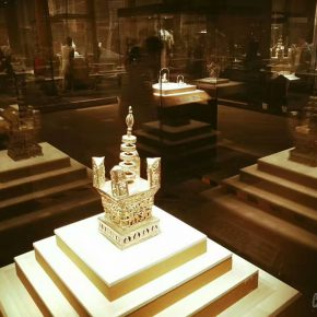 04 Silver-gilt gilded Ashoka Pagoda unearthed from the underground palace of Leifeng Pagoda