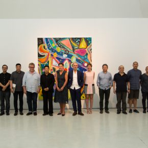 "07 Group Photo of Honored Guests at the Opening Ceremony of ""Sailing off the Edge""  290x290 - Celebration of Life and the Experience of the Sublime: Gillian Ayres' Abstract Painting ""Sailing off the Edge"""