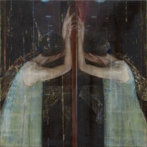 07 Ma Lei Two Flowers No.1 tempera on board 80 × 80 cm 2010 290x290 - Ma Lei: Self-Projection in the Spiritual World