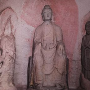"""07 Virtual recovery of Cave 2 of Tianlongshan Grottoes 290x290 - A New Approach to the Study on Art History in the Digital Age: OCAT Institute Exhibited the """"Original Appearance"""" of Tianlongshan Grottoes"""