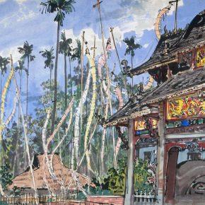 07 Zong Qixiang, Buddha Banners, 31.5 x 43 cm, 1959