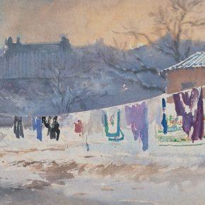 10 Zong Qixiang, A Winter, 27 x 38 cm, 1953