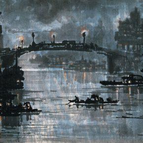11 Zong Qixiang Suzhou River 34 x 52 cm 1947 1 290x290 - Yu Yang: Centennial Exhibition of Zong Qixiang and the Integration & Exploration of Night Landscape Painting