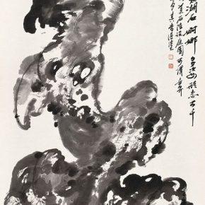17 Zong Qixiang, There is Many Odd Rocks in Rongshui, Liujiang, Guangxi Province, 137 x 68 cm, 1979