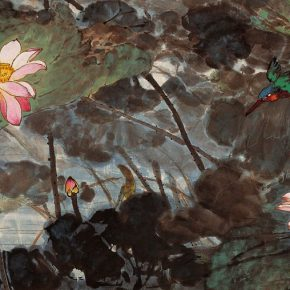 20 Zong Qixiang, The Lotus Pond with a Kingfisher, 67 x 132.5 cm, 1976