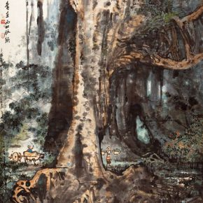 23 Zong Qixiang, The Quiet Forest, 179 x 96 cm, 1961