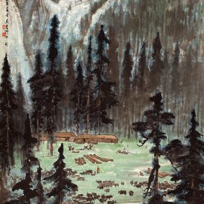24 Zong Qixiang, Grazing in the Mountains, 137.6 x 68.6 cm, 1961