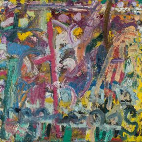 "25 Gillian Ayres Where the Bee Sucks Oil on canvas 227.3 x 242.5 cm 1981 1982 290x290 - Celebration of Life and the Experience of the Sublime: Gillian Ayres' Abstract Painting ""Sailing off the Edge"""