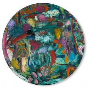 "26 Gillian Ayres Lucas Oil on canvas D 243.8cm 1985 290x290 - Celebration of Life and the Experience of the Sublime: Gillian Ayres' Abstract Painting ""Sailing off the Edge"""