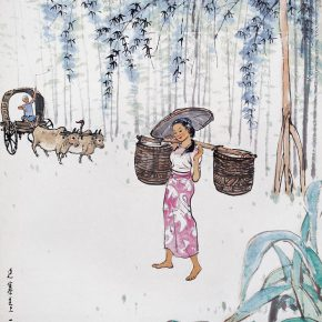 26 Zong Qixiang, On the Road of a Remote Village, 99 x 69.5 cm, 1960
