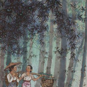 27 Zong Qixiang, On the Road of Jiele, 130.5 x 59.5 cm, 1959