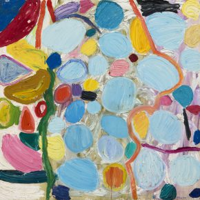 "28 Gillian Ayres Furrina Oil on canvas 182.8 x 182.8 cm 1994 290x290 - Celebration of Life and the Experience of the Sublime: Gillian Ayres' Abstract Painting ""Sailing off the Edge"""