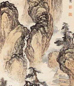 29 Zong Qixiang A replication of Wu Zhonggui's Hermitage with a River and Woods Figure 138.5 x 34.5 cm 1935  250x290 - Zong Qixiang
