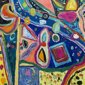 "30 Gillian Ayres Untitled Rome Series I Oil on canvas 243.8 x 213.4 cm 1997 290x290 - Celebration of Life and the Experience of the Sublime: Gillian Ayres' Abstract Painting ""Sailing off the Edge"""