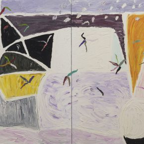 "32 Gillian Ayres White Wind Oil on canvas 244 x 427cm 1998 1999 290x290 - Celebration of Life and the Experience of the Sublime: Gillian Ayres' Abstract Painting ""Sailing off the Edge"""