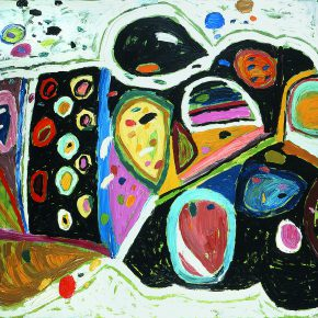 "33 Gillian Ayres Rising of the Dog Star Oil on canvas 243.8 x 365.7 cm 2001 290x290 - Celebration of Life and the Experience of the Sublime: Gillian Ayres' Abstract Painting ""Sailing off the Edge"""