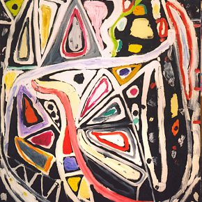 "34 Gillian Ayres Dark Carnival Oil on canvas 213.3 x 152.4 cm 2003 290x290 - Celebration of Life and the Experience of the Sublime: Gillian Ayres' Abstract Painting ""Sailing off the Edge"""
